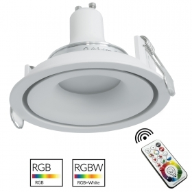 Spotlight modern white recessed round 9cm LED GU10 RGB 6000K light multicolor