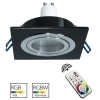 LED spotlight RGB GU10 recessed 80mm black square bulb colorful games light