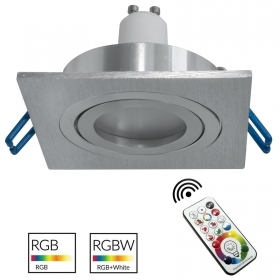 LED spotlight recessed 80mm sq