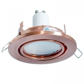 Spotlight copper 5W LED lamp GU10 recessed round 70mm light modern display cabinets kitchen