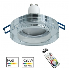 Spotlight recessed 6cm mirrored glass lamp light colorful LED RGB GU10 shop