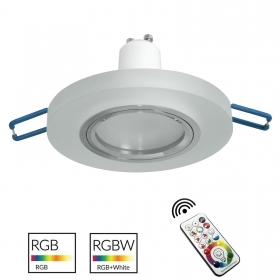 Spotlight modern round frosted glass flush 6cm LED light GU10 RGB chromotherapy