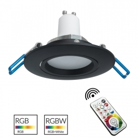 Spotlight black recessed round