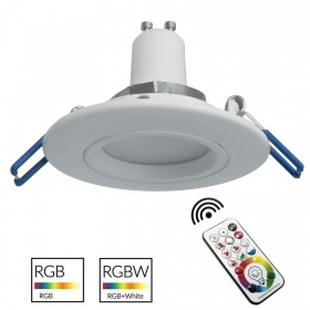 Spotlight modern white recessed round 7cm games colorful LED light GU10 RGB 6000K