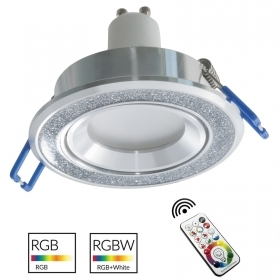 Downlight modern recessed round 7cm silver glitter games light LED RGB GU10