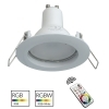 Spotlight multi-color LED built-6cm round white RGB GU10 effects light colored