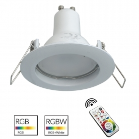 Spotlight multi-color LED integrado-6cm redondo blanco RGB GU10 efectos de luz de colores