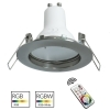 Spotlight round silver recessed 60mm games light colorful LED RGB GU10 shop pub