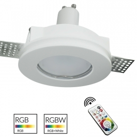 Spotlight plaster round recessed 10cm disappearance LED lamp RGB GU10 coloured light