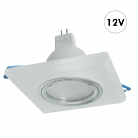 Spotlight MR16 recessed square