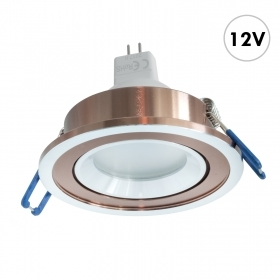 LED spotlight, recessed, round