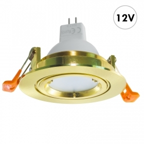 Spotlight round recessed 8cm g