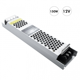 Transformer from 230V to 12V power supply 150W dvr strip lights LED 2 outputs 12.5 A