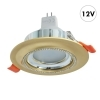 Spotlight round recessed 75mm golden glitter LED lamp MR16 7W GU5.3 yield 70W