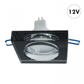 Spotlight black glass built-6c