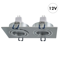 Projecteur LED 12V encastrable rect