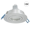Spotlight silver collection round 8cm LED lamp MR16 7W 12V GU5.3 light adjustable