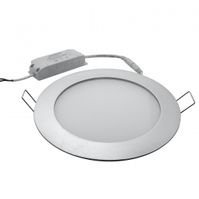 OFFER USED display - panel round silver recessed office LED kitchen 12W hole 17cm led ceiling lighting 3000K 6000K