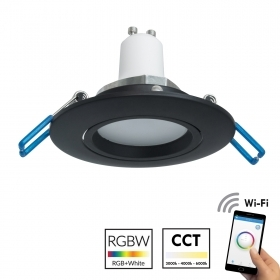 Spotlight recessed round black