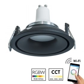 White spotlight recessed round