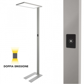 Lamp the ground light study office free-standing luminaire LED 50W dimmable double light 4000K