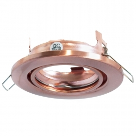 Port downlight modern recessed 7cm round copper adjustable support for lamps GU10