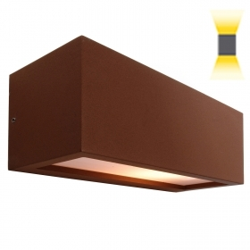 Applique rectangular brown lamp LED 10W E27 dual emission light input