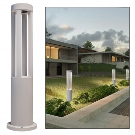 Street lamp modern white LED 12W lantern IP65 stake light garden avenue 60cm