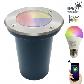 Spotlight path indicators multicolour LED downlight WiFi E27 walkable 1T garden IP67