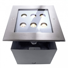 Spotlight floor LED 6W inground square light garden courtyard driveway IP67