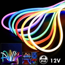 led strip new generation flex ribon neon flexible 12V light outdoor garden IP65 terrace tube christmas strip