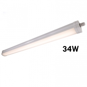 Ceiling light LED 34W modular lamp ceiling light garage IP65 4000K bar 130cm