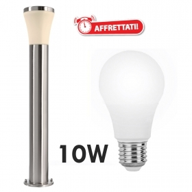 Street lamp modern stainless steel LED lamp 10W E27 1 meter for the garden