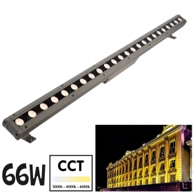 LED light bar 66W 100cm lights garden fountain CCT from 1800K to 5500K 24V IP65