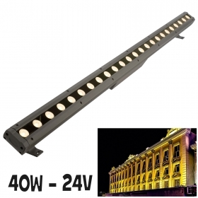 LED light bar 40W light external wall facades garden garage 24V IP65 100cm