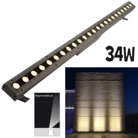 LED bar 100cm asymmetrical 34W external lighting facades, walls, monuments IP65 230V