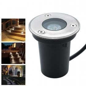 LED spotlight recessed segnapassi walkable 1W yield 10W IP65 garden light 230V