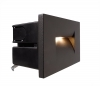 Led spotlight path indicators external wall, stairs, 3.6 W IP65 light 3000K asymmetrico