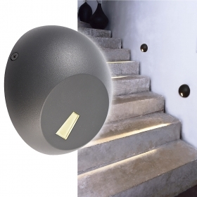 Spotlight segnapassi round 3W LED SPOT light, external wall, wall, steps, stairs IP65