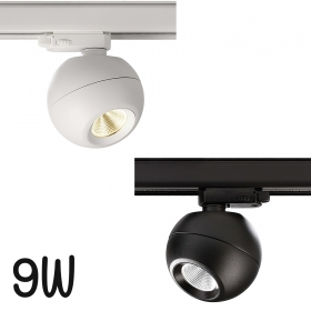 LED spotlight COB 9W three-phase track rail light lighting showcases 3000K 230V