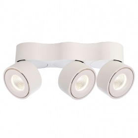 Plafonnier avec 3 spots LED or
