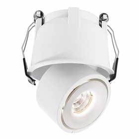 LED spotlight modern 9W recessed white swivel lighting showcase 18-19V bore 85mm