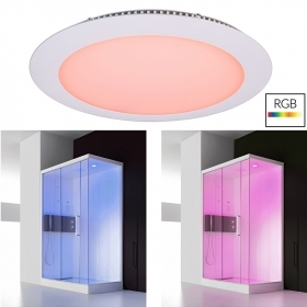 KIT spotlight recessed panel slim 24V LED 16W RGB light chromotherapy shower