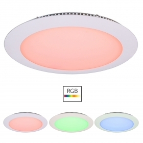 Led downlight led recessed slim LED panel 24V 16W multi-color RGB light bathroom shower stall