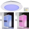 KIT colour therapy panel LED slim recessed 8W RGB colorful light shower 24V