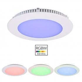 LED panel-8W slim chromotherapy recessed light multicolor bathroom shower stall 24V
