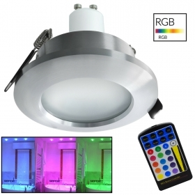 Recessed RGB LED for wet environments, bathroom shower light rgb cromotherapy 5w 220v gu10