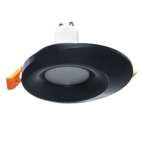 Spotlight black LED lamp 8W GU10 recessed 65mm led ceiling lighting shop kitchen 230V