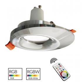 Spotlight chrome LED RGB GU10 multicolor collection 65mm effects colored light 230V