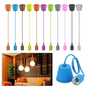 Bulb holder silicone E27 pendant lamp, colorful LED 10W light bedroom 230V